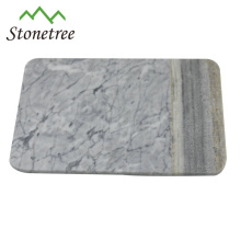 white marble serving board chopping board with handle