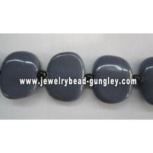 grânulos de cerâmica artesanal bonito 25x30mm