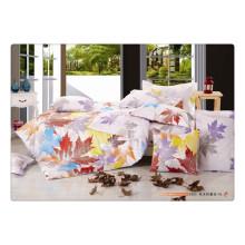 100 Baumwolle 40s 128 * 68 luxuriöses, hochwertiges Pigmentdruck Bettlaken-Set