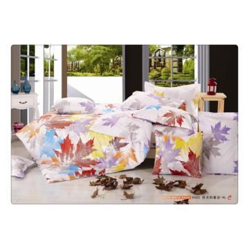 100 хлопок 40s 128 * 68 роскошный мягкий высококачественный пигмент печать постельное белье комплект