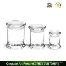 8oz Glas Metro Jar mit flachen Deckel für Wohnkultur