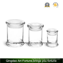 8oz Glass Metro Jar with Flat Lid for Home Decor