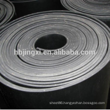 Black EPDM Rubber Sheet Roll with Cloth Insertion
