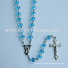 Buy Blue Cheap Crystal Rosary Necklace
