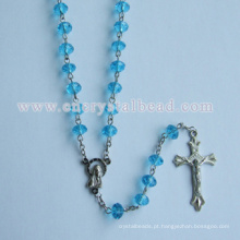 Comprar barato azul cristal Rosário colar