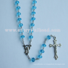 Купить синий дешевое Розария кристалл ожерелье