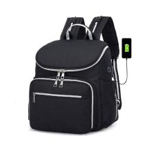 USB Mummy Baby Felt Diaper Bag Backpack
