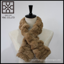 New design Brown Fake Fur Snood