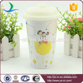 Hot Sale Wholesale Decal Ceramic Mug With Straw