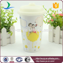 Hot sale wholesale ceramic double wall travel mug