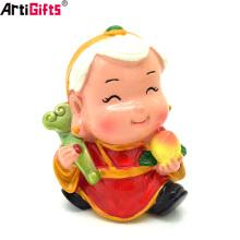 Wholesale 3d personnaliser dessin animé chinois style résine figurines jouets