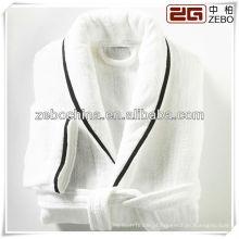 Elegante colar de xale branco luxo atacado 5 estrelas hotel bathrobe