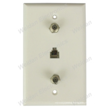 Leviton Almond Telephone Wall Plate for Multimedia