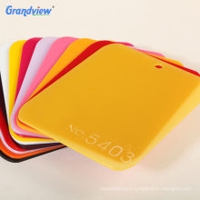 3 mm 5 mm  8 mm 10 mm PE film package yellow color perspex acrylic sheet