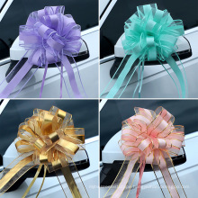 Pull Bow Mixed Color Large Organza Pull Bow Present Wrapping Pull Bow with Ribbon for Wedding Present Baskets