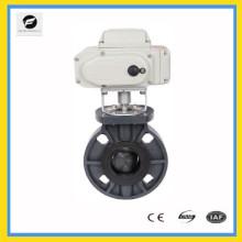 Válvula de mariposa eléctrica DN25-DN500 UPVC para tratamiento de agua