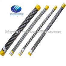 Corda de fio de cabo de aço galvanizado