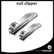 Coupe-ongles et coupe-ongles, coupe-ongles en acier inoxydable 2PCS Sharp, ensemble de coupe-bordure robuste pour hommes et femmes
