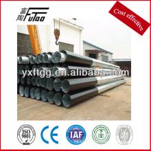 Poste de acero de la energía eléctrica, acero del poder de la galvanización del polígono, poste de acero de la energía eléctrica 10-500kv