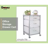 Chrome Plating 3-Tier Storage Container Organizer Trolley With Locking Wheels