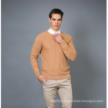 Men′s Fashion Cashmere Blend Sweater 17brpv077