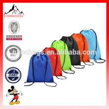 6 Pack Drawstring Backpack Bag Nylon Folding Shoulder Tote Sack Packing Bags 6 Different Colors (ES-H052)