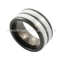 wholesale 2014 new fashion stainless steel men ceramic ring from jewelry manufacturer