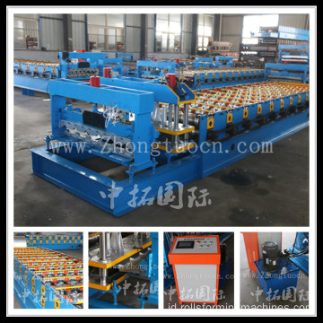 Aluminium Roof Roll Forming Step Tiles Machine