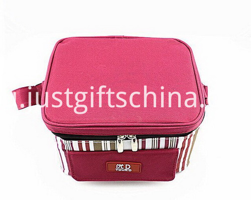 Personalized Quality 600D Polyester Striped Cooler Bags