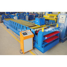 20m/min Red Panel Double Layer Roll Forming Machine Roofing Sheet Forming Machine