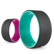 JW Custom OEM TPE Ring Yoga Wheel Massage Circle Back Stretch Roller Yoga Pilates Wheel