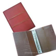 A5 portefeuille, classeur à anneaux en métal, dossier de dossier, couverture de journal