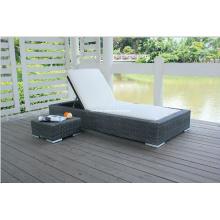 Outdoor Garten Rattan Wicker Lounge Stuhl mit Beistelltisch