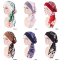 Velvet bandanas hair accessories silk chiffon bonnet hat