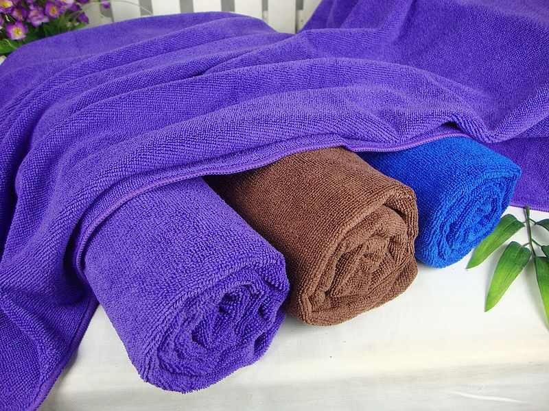 Weft Knitting Microfiber Bath Towels Walmart