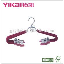 EVA-Schaum beschichtete Metall-Kleiderbügel mit Metallclips und platzsparendem Haken