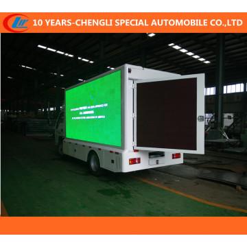 Caminhão do diodo emissor de luz 4X2, out-Door caminhão de anúncio móvel do diodo emissor de luz, exposição caminhão do diodo emissor de luz para P10, P8, Efeito da tela de P6