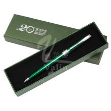 Bolígrafo promocional de torsión de metal abierto con caja de regalo