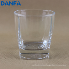 10oz. Square Base Whiskey Glass