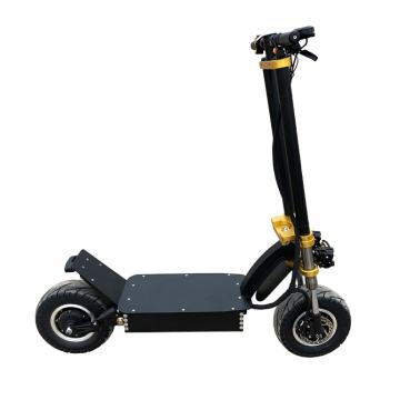 Электрический самокат с большим колесом и толстой шиной