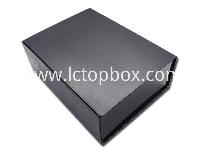 Black paper box with logo