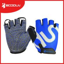 Logotipo de impresión con mejores ventas del silicio guantes de ciclo y levantamiento de pesas