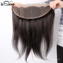 13x4 Frontal suizo transparente del cordón con la cutícula del pelo del bebé alineó las fábricas del cabello humano de la Virgen para la venta en China