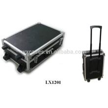 grossistes de bagages dur aluminium solide avec 2 roues