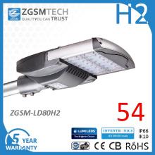 80W Ce GS TUV marqué lampe de rue LED pour éclairage de zone de stationnement