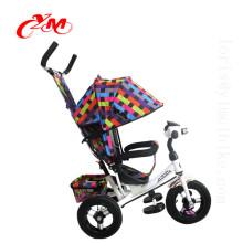 2017 bebé triciclo triciclo nuevo / caliente triciclo ruedas EN 71 personalizado / calidad superior niños 3 ruedas motos barato
