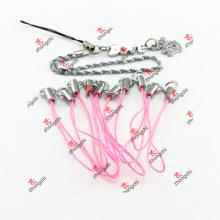 Rosa Handset Zaumzeug Seil für Schlüsselkette (PMR51111)