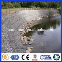 DM quente mergulhado parede de gaiola de pedra galvanizada, parede de retenção gabião de alta qualidade