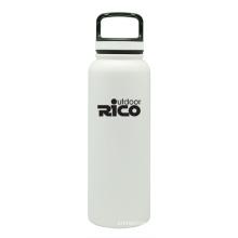En acier inoxydable durable Sports vide bouteille blanc 40oz