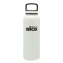 Durable Stainless Steel Vacuum Sports Bottle White 40oz